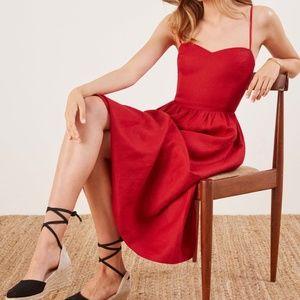 Linen Midi Dress REFORMATION 4